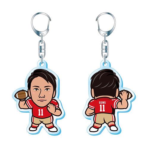 【キーホルダー】西山雄斗選手(背番号11番)