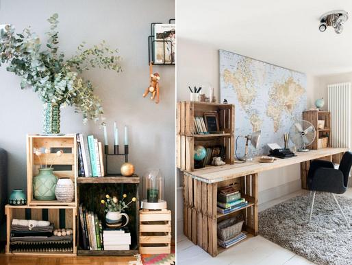 Dekoracyjne patenty na drewniane skrzynki w mieszkaniu