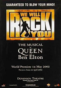 We Will Rock You The Musical Dominion Theatre