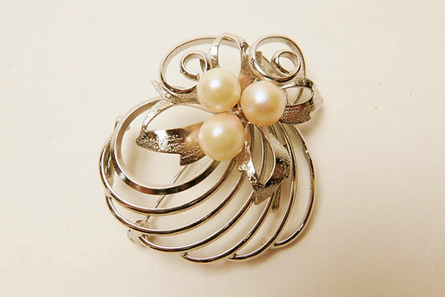本真珠アンティーク帯留ブローチ