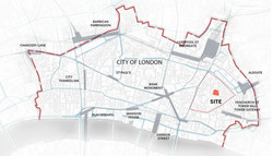 Site location in the City of London
