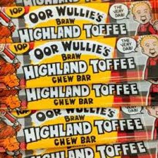 Oor Wullie's Highland Toffee Chew Bars x 3