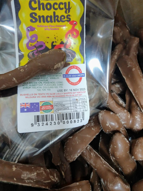 Choccy Snakes 130g