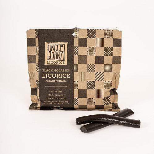 Uncle John's Black Soft Eating Licorice  300g