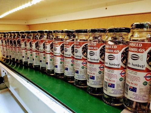 Humbugs 100g Glass Jar