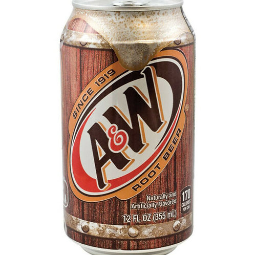 A & W Root Beer can 355ml