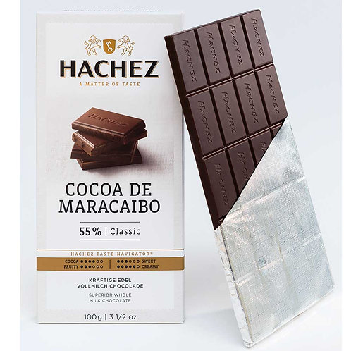 Hachez Cocoa De Maracaibo Milk Chocolate 100g
