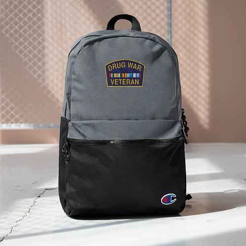 Drug War Veteran Embroidered Champion Backpack