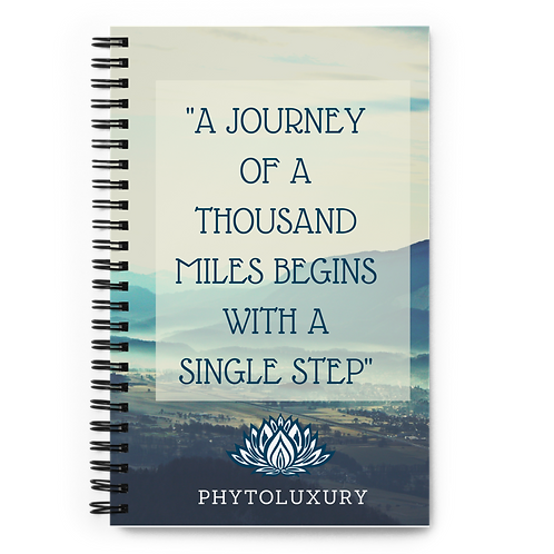 'PHYTOLUXURY THE JOURNEY' Spiral notebook