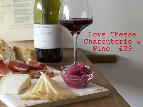 Love Cheese Charcuterie & Wine £39