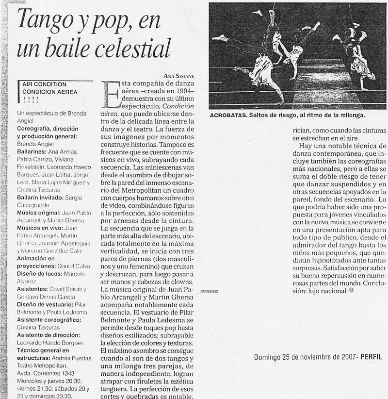 Diario Perfil - 25.11.07