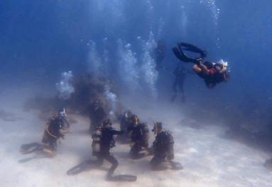 Jeremy Stein diving in Vietnam