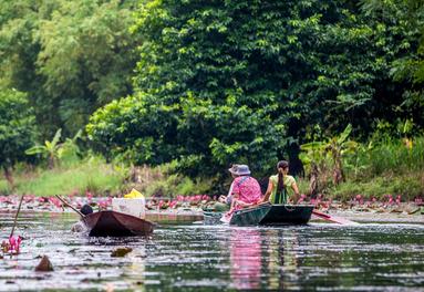 Cruising the Mekong River