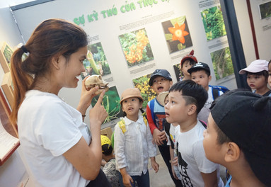 Thanh at the Son Tra Nature Reserve Education Centre