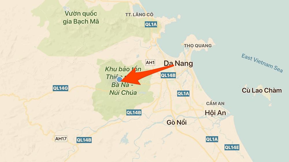 Ba Na Hills Sunworld location