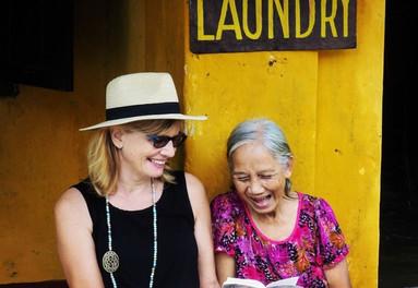 Wellbeing coach Kerstin Pilz in Vietnam