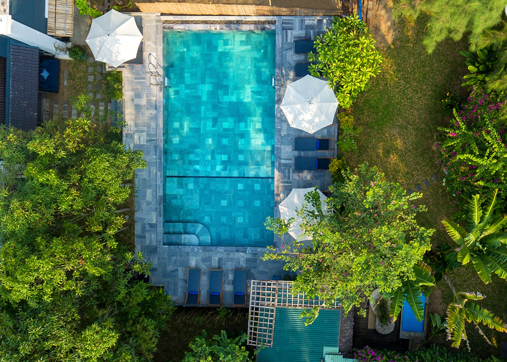 Pool side at Aira Boutique Hoi An Hotel & Spa