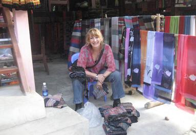 Checking out Mai Chau with Cynthia Mann