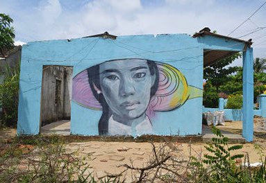 Mural at Tam Ky and Tam Thanh Beach Vietnam