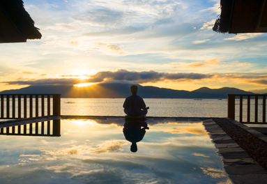 Yoga and sunsets go hand in hand in Vietnam