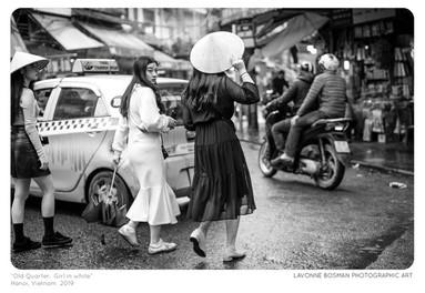 Girl in white photograph by Lavonne Bosman