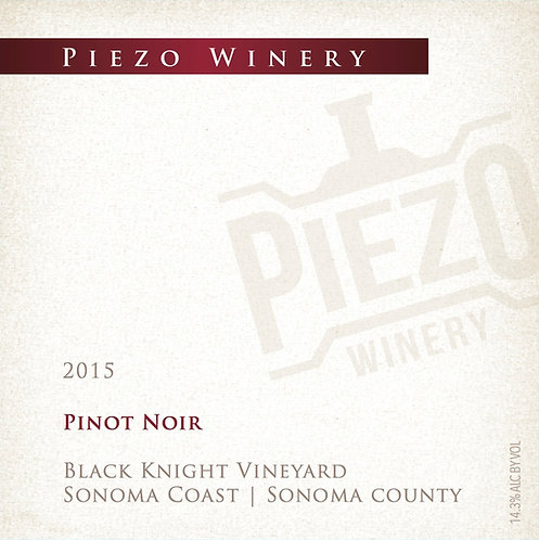 2015 Pinot Noir - Black Knight Vineyard