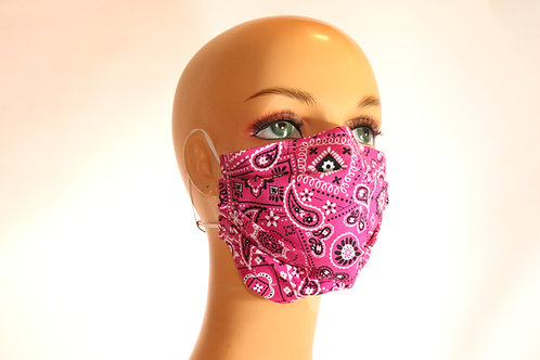 Face Mask w/Elastic & Filter Pocket, A'sst Sizes