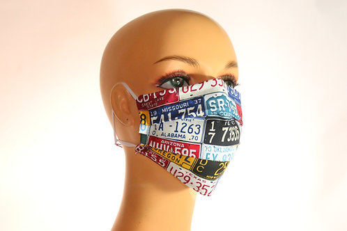 Face Mask with Elastic & Filter Pocket  Assorted Colors, Sizes