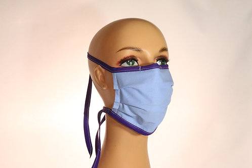 Facemask with Ties in Adult Regular & Small (Youth)