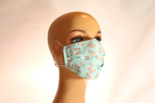 Face Mask with Elastic Over the Ear, 3-Layer