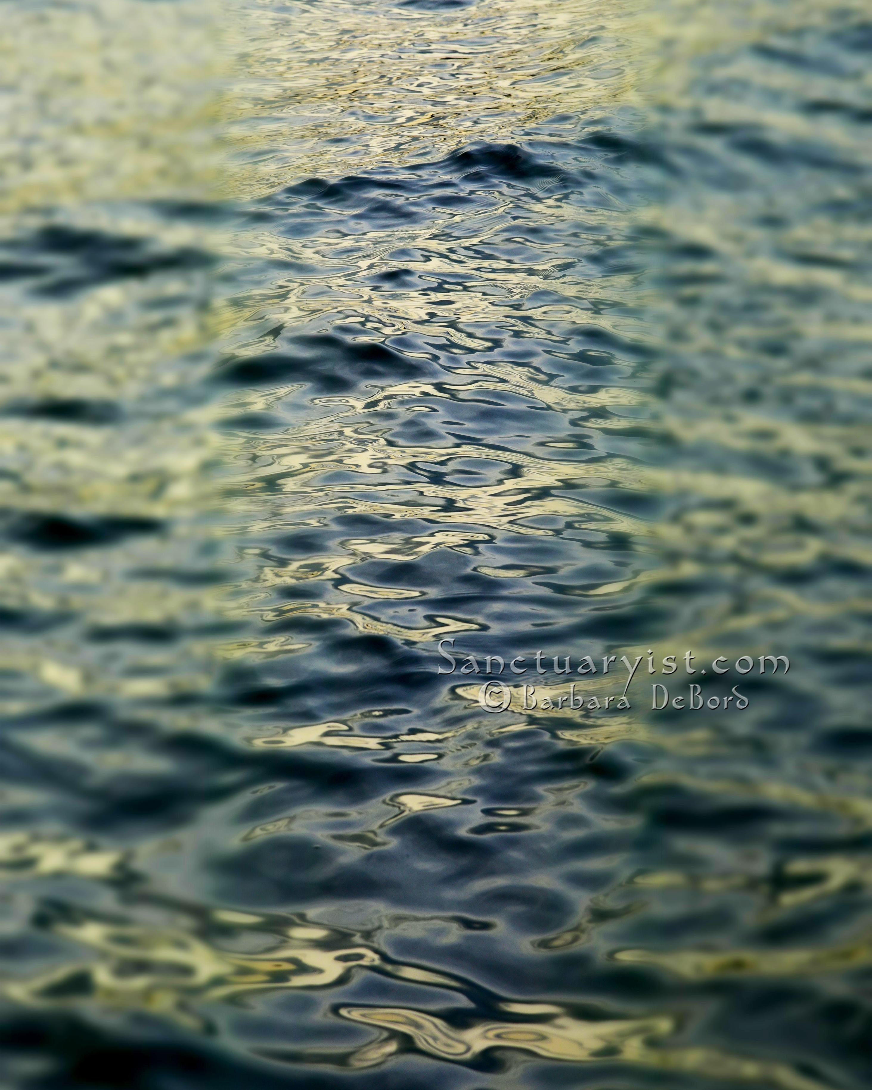 Green Grey Leopard Seas No 6