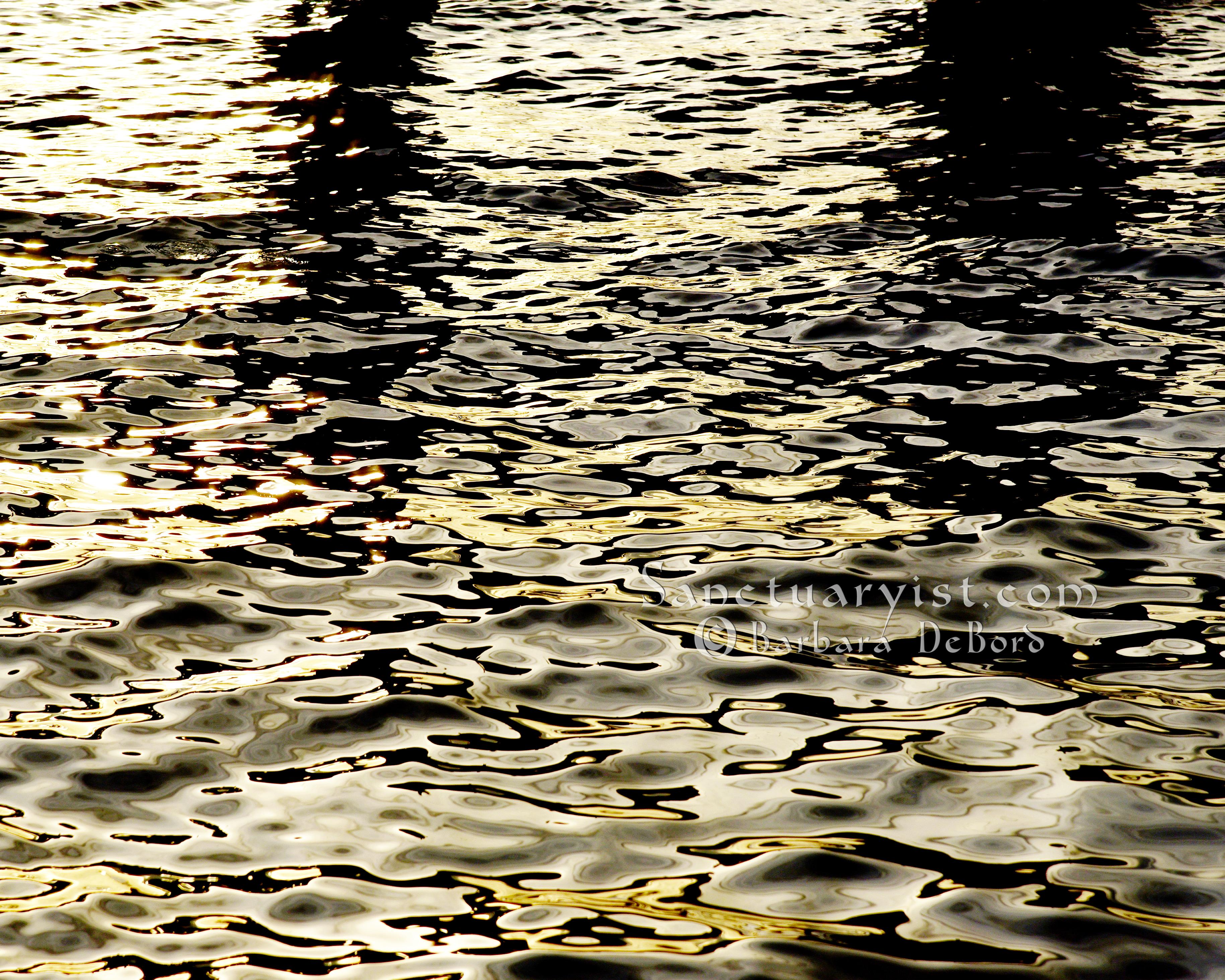 Grey Gold & Black Leopard Seas No 14