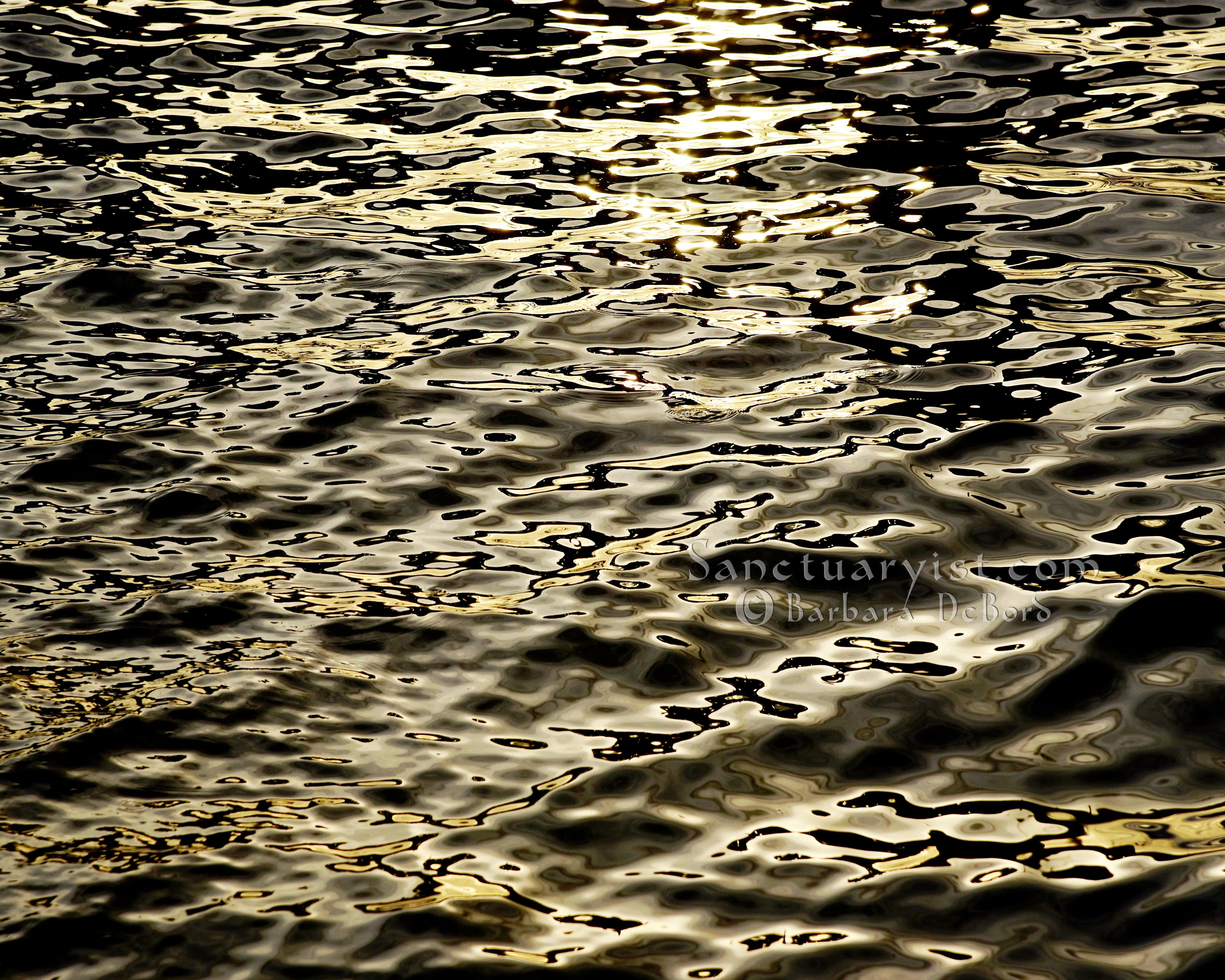 Grey Gold & Black Leopard Seas No 2
