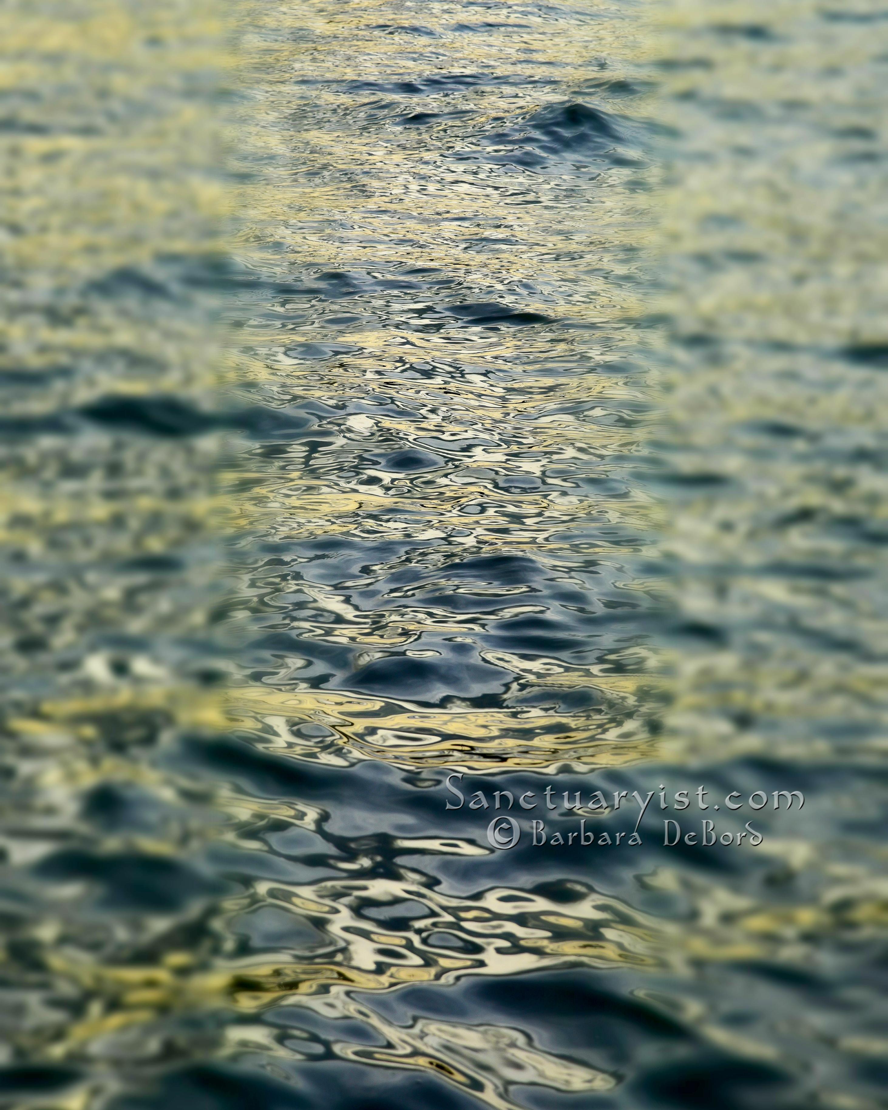 Green Grey Leopard Seas No 3
