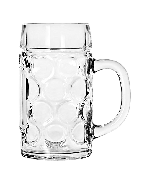 GLASS BEER STEIN 1L