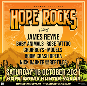 HOPE ROCKS RETURNS TO HOPE ESTATE WITH AN ALL-STAR LINE-UP OF ROCK LEGENDS!