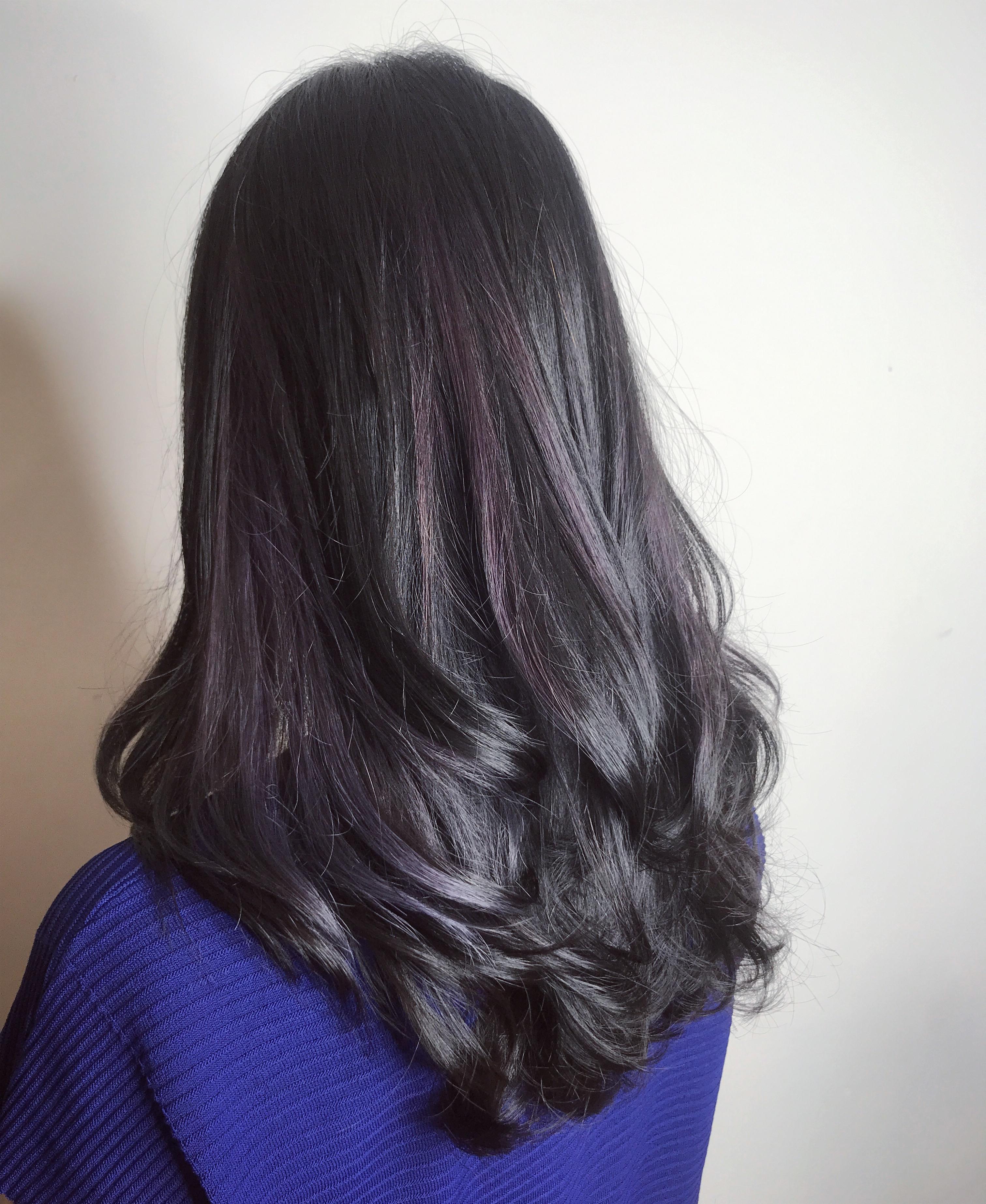 灰紫黑歐美染
