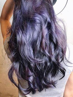 #深邃的藍灰紫 #東區剪髮Dary #不用漂髮 #霧感 #設計染 #染髮