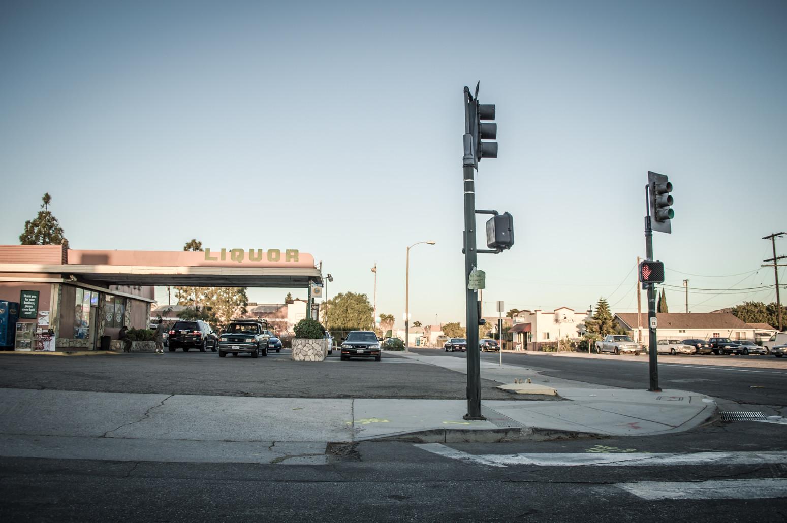 Drive-thru liquor in a backwater town in California.