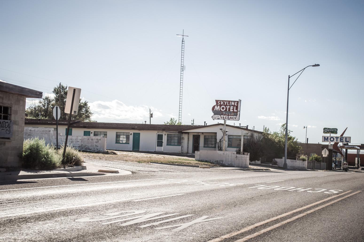 Roadside motels in Texas.