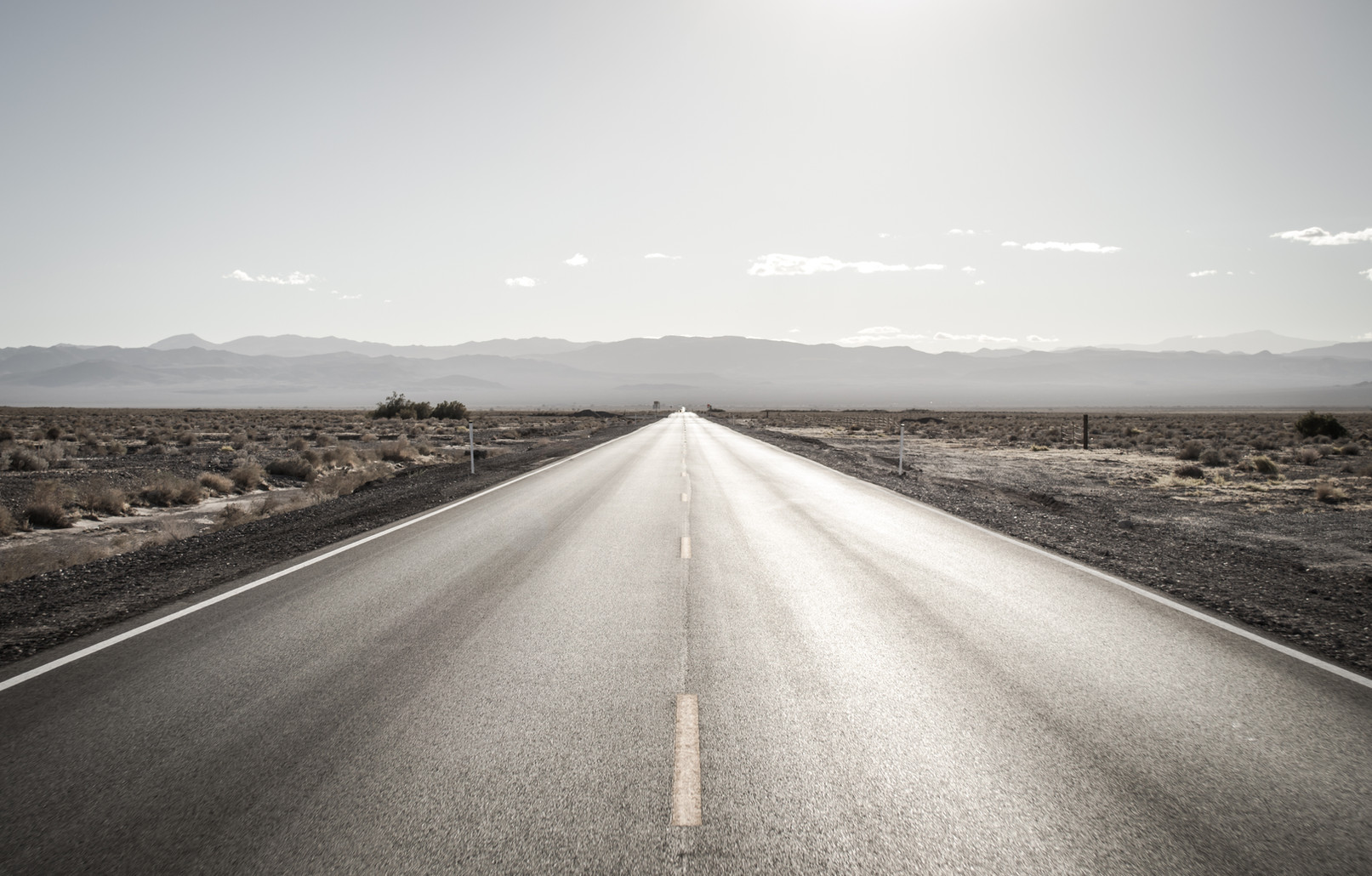 The road to Death Valley.
