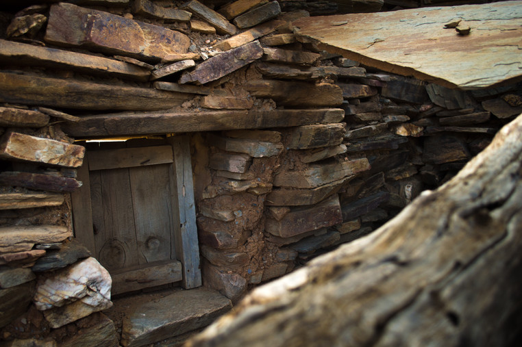 An abandoned sheep hut in the Sierra Nevada mountains.