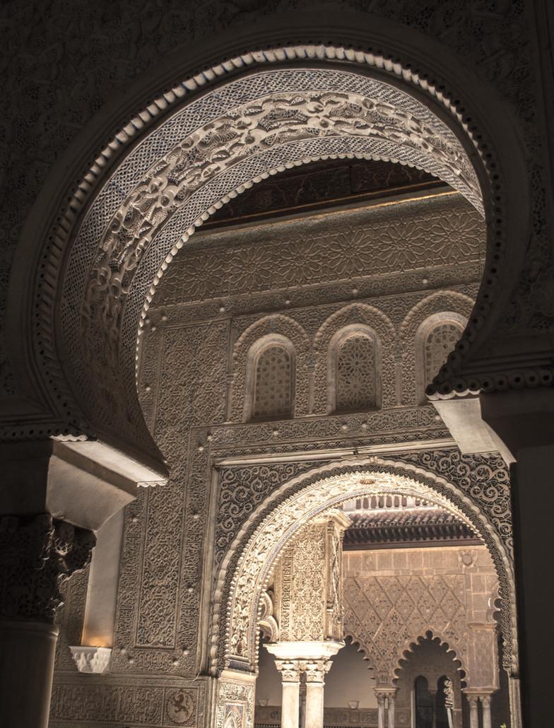 Reflected light in the Alcazar of Seville.