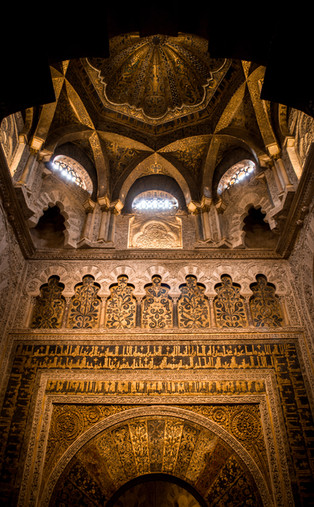 Inside the Mezquita of Cordoba.