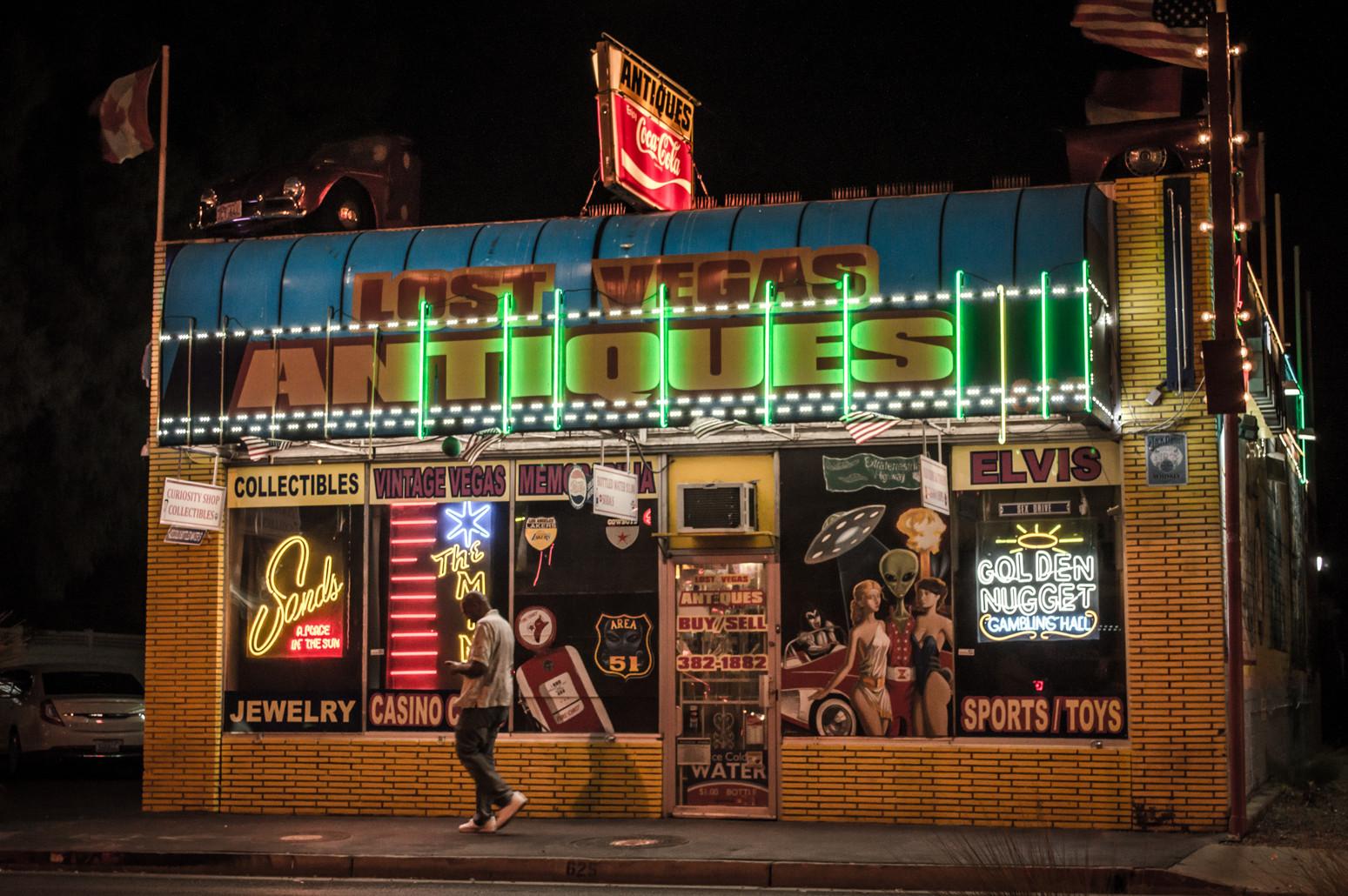 Antiques in Las Vegas.