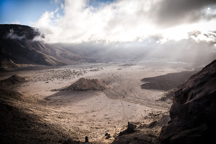 The martian volcanic plateau of Teide.