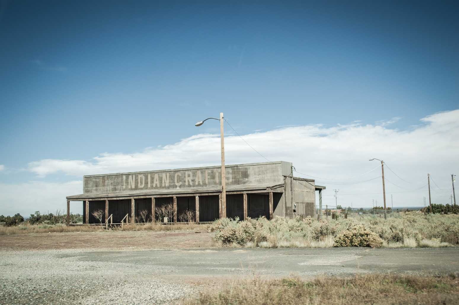 An abandoned 'Indian' crafts store in Arizona.
