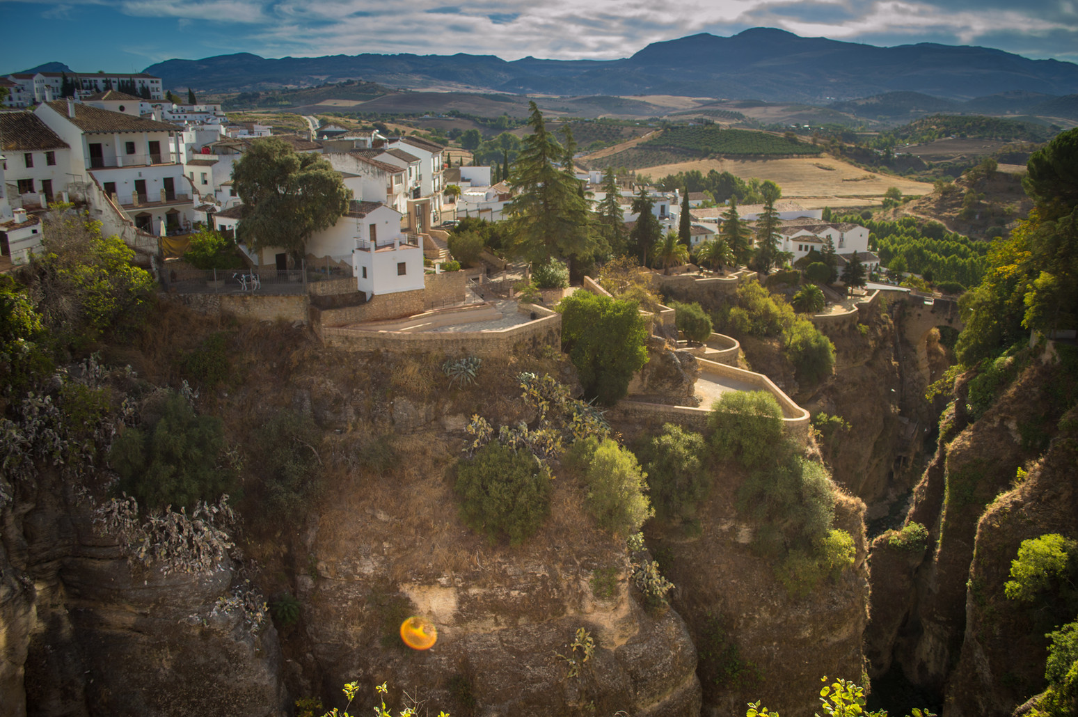The canyon in Ronda.
