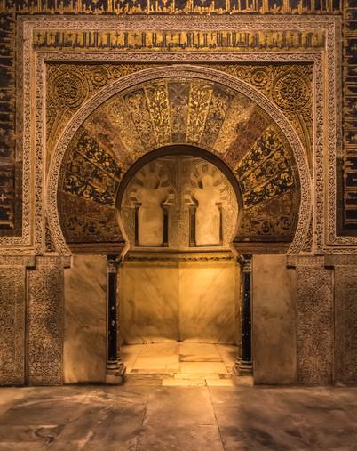 The golden door in the Mezquita of Cordoba.