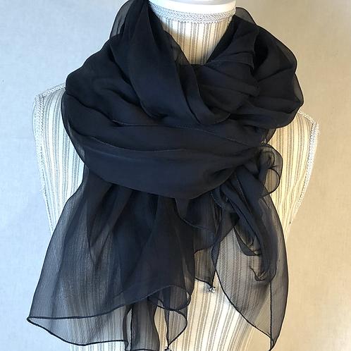 Maxi  foulard  in chiffon di seta con cristalli Swarovski